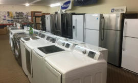Many appliances available including Washers, Dryers, Ranges, Refrigerators, Freezers.